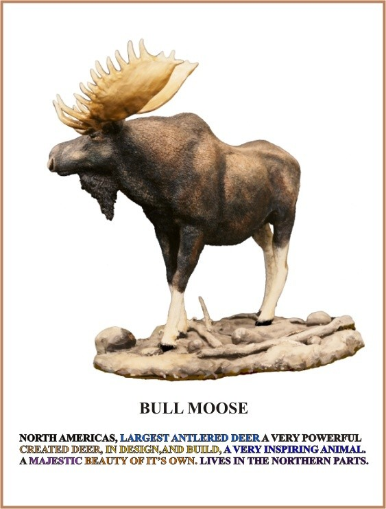 Bull Moose, Sculpture