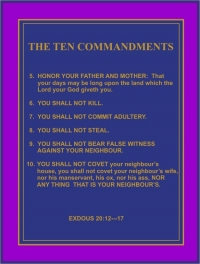THE COMMANDMENTS 5 -- 10